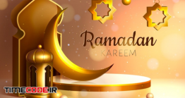 دانلود رایگان فایل لایه باز بنر ماه رمضان Realistic Three-dimensional Ramadan Kareem Illustration