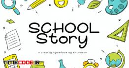 دانلود فونت انگلیسی دستنویس School Story Font