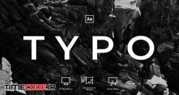 دانلود پروژه آماده افتر افکت : تایپوگرافی Typography