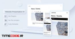 دانلود پروژه آماده افتر افکت : تیزر تبلیغاتی وب سایت Website Presentation III | Neomorphism