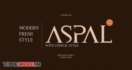 دانلود فونت انگلیسی ساده  Aspal Typeface Font