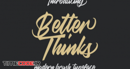 دانلود فونت انگلیسی گرافیکی دست نویس پیوسته Better Thinks Typeface