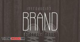 دانلود فونت انگلیسی نازک  Brand Typeface Font