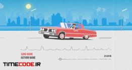دانلود پروژه آماده افتر افکت : اکولایزر موشن گرافیک ماشین Car Music Visualizer