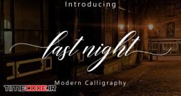 دانلود فونت انگلیسی گرافیکی  Last Night Script