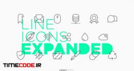 دانلود آیکون با طراحی محیطی  Line Icons Expanded