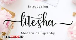 دانلود فونت انگلیسی گرافیکی  Litesha Script