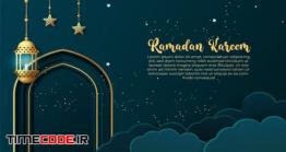 دانلود بنر و کارت تبریک ماه رمضان Ramadan Greeting Card Or Banner Template Design