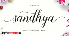دانلود فونت انگلیسی خوشنویسی  Sandhya Script