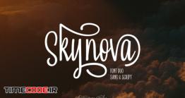 دانلود فونت انگلیسی گرافیکی  Skynova