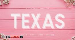 دانلود فونت انگلیسی گرافیکی  Texas   A Romantic Typeface