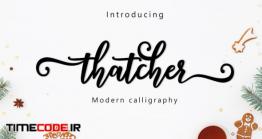 دانلود فونت انگلیسی گرافیکی  Thatcher Script