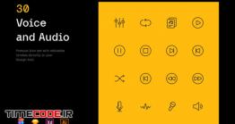 دانلود آیکون با موضوع صدا  Voice And Audio – Iconuioo